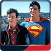 Christopher Reeve and Marc McClure in Superman-the Movie.