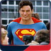 Christopher Reeve walks through the streets with his fans in Superman IV.