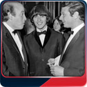 Richard Lester, George Harrison and Brian Epstein.