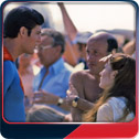 Christopher Reeve, Richard Lester and Annette O'Toole in Canada for Superman III.