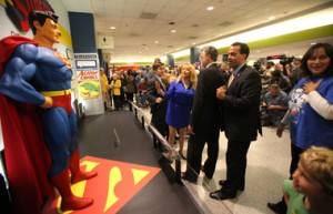 Superman Welcoming Center opens at Hopkins Airport in tribute to Cleveland-created superhero.