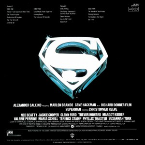 Superman-The Movie LP backcover