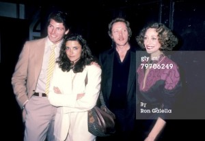 Christopher Reeve, Karen Allen, Christopher Walken and Marisa Berenson at the 4th Annual New York Caberet Benefit for the Williamstown Theater Festival on April 14, 1985. I've always thought that Karen Allen would have made a great Lois Lane.