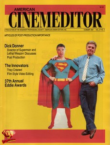 Summer 1987 'American Cinemeditor' magazine article with Richard Donner.