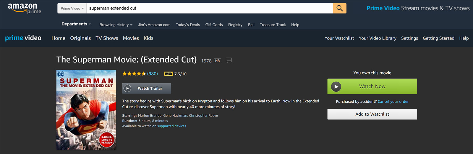 CW Amazon Prime Video STM Extended Cut