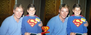 Christopher Reeve and Wade Murphy at the 1994 Atlanta Dixie Trek Convention. This shows the before and after of the restoration.