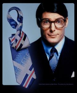 Christopher Reeve Clark Kent tie.