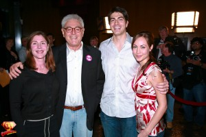 Lauren Shuler Donner, Director Richard Donner, Brandon Routh and Courtney Ford.