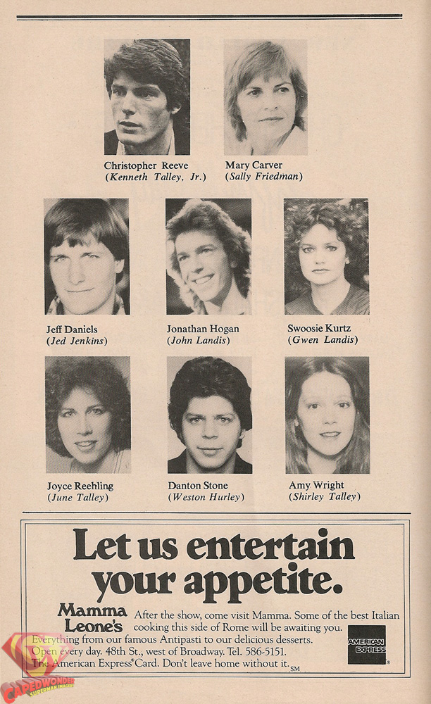 Fifth of July Playbill inside page.