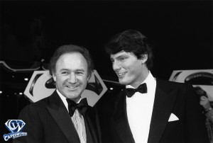 Gene Hackman with Chris Reeve at the 'Superman-The Movie' Hollywood Premiere at the Mann's Chinese Theater on December 14, 1978.