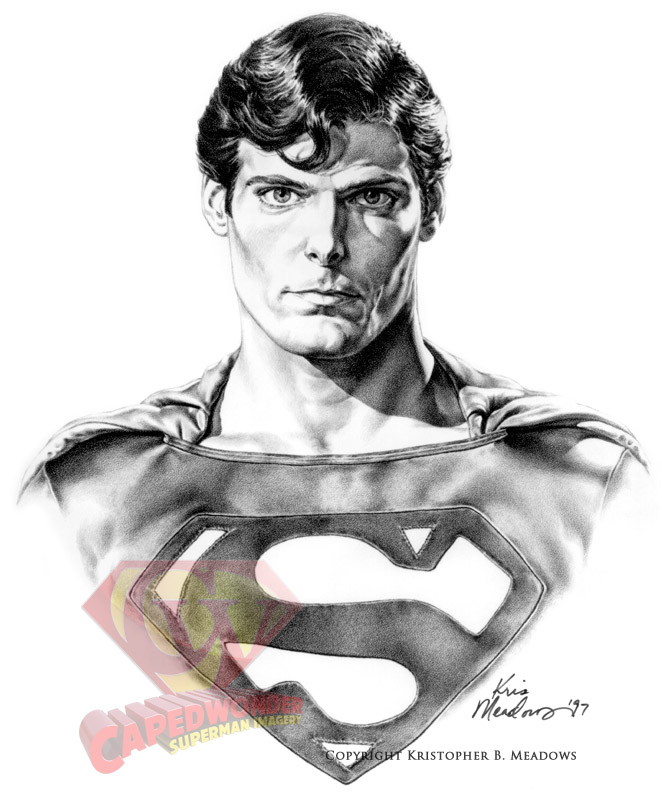Superman Face Drawing Cw-meadows-reeve-superman