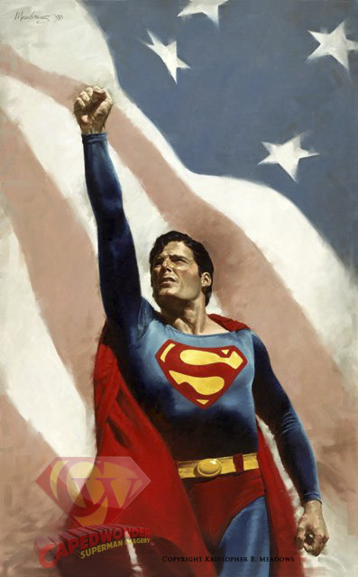 CW-Reeve-Superman-Meadows-American-flag-painting-01