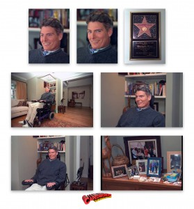 CHRISTOPHER REEVE AT HOME IN NEW YORK