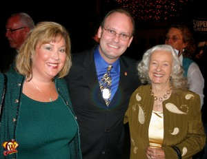Noel Neill, Jim Bowers and Sallie Haws.