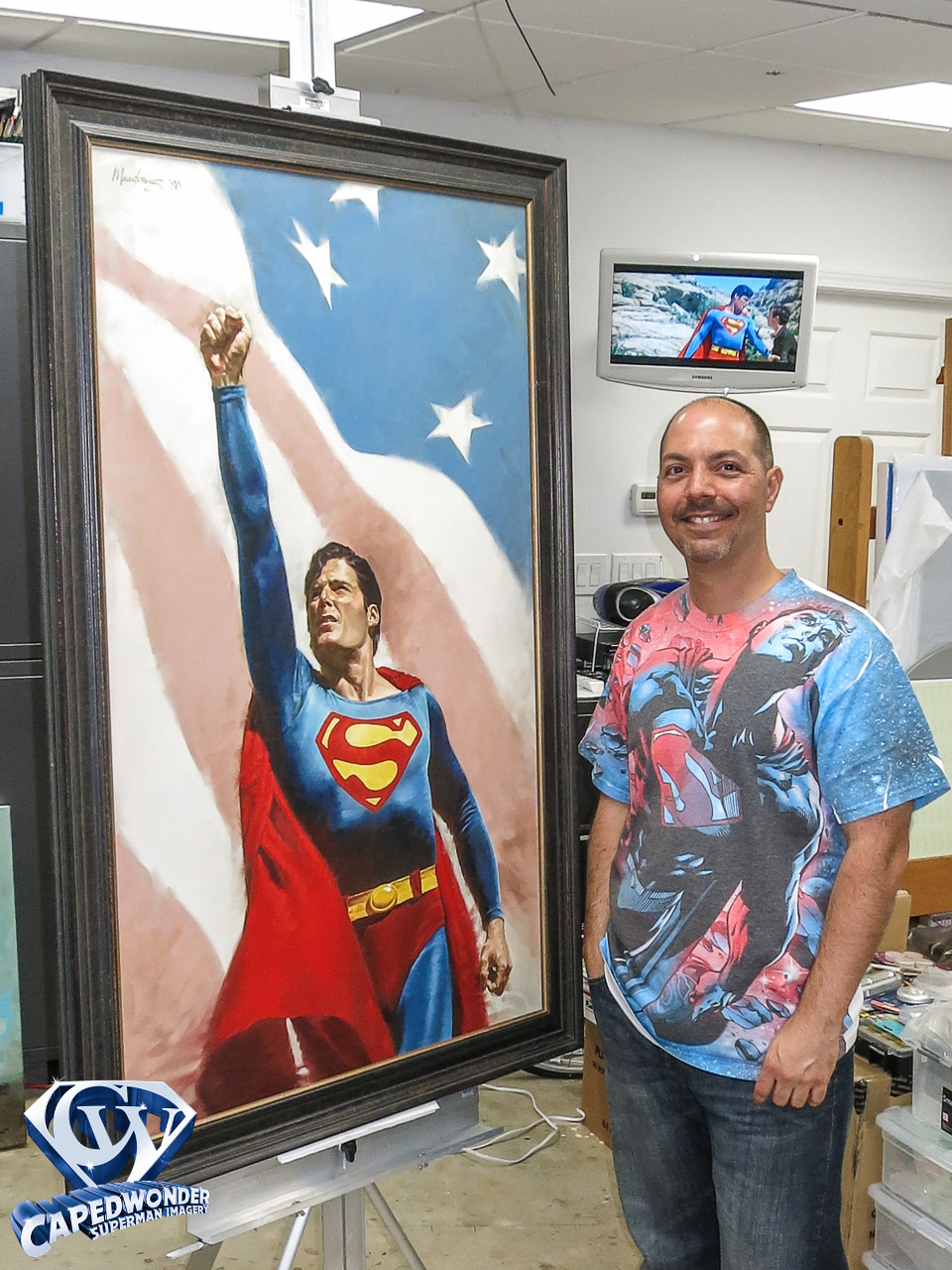 CW-STM-Reeve-Superman-flag-painting-Meadows-1-5