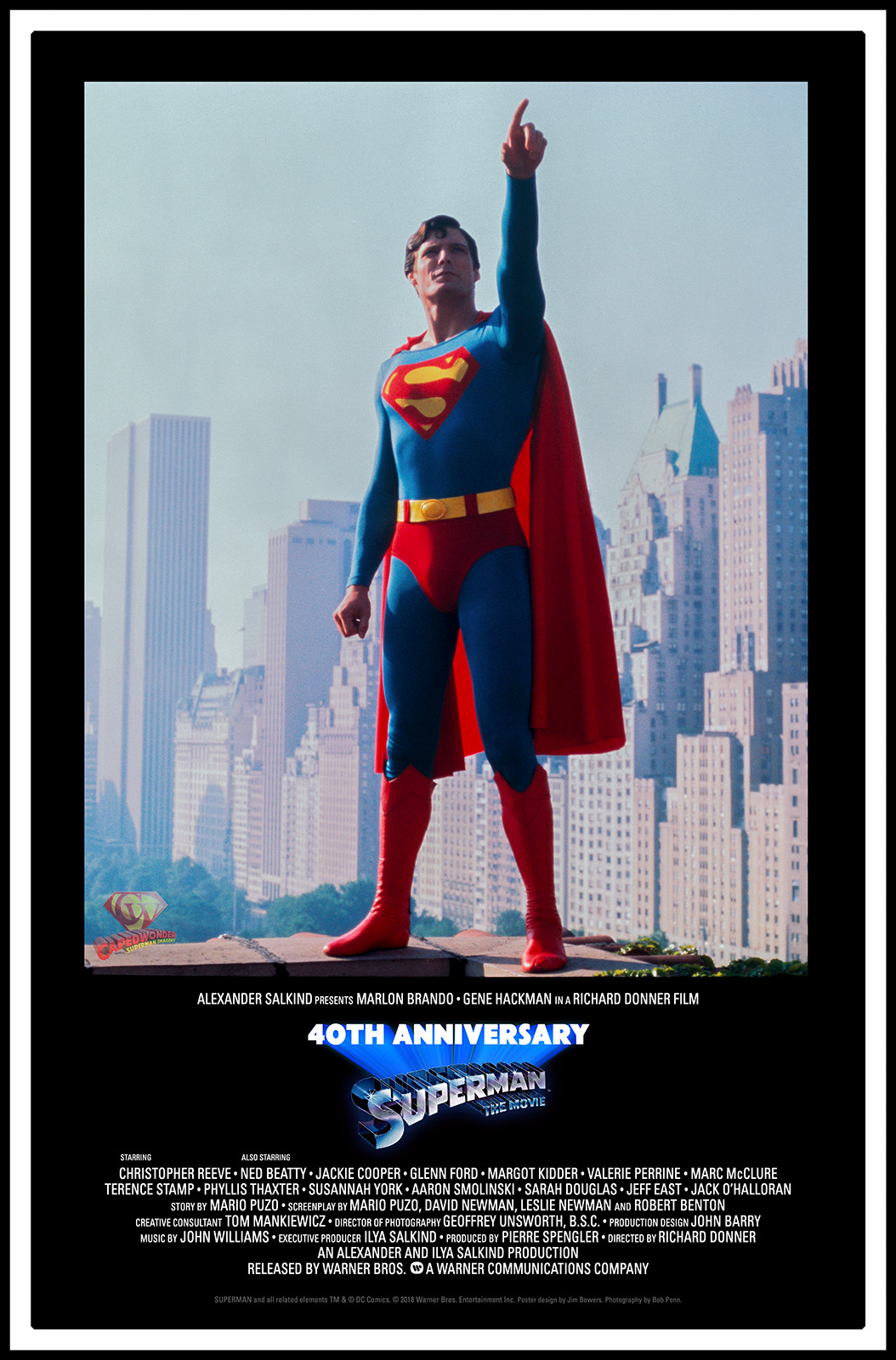 Superman-The Movie 40th Anniversary poster by CapedWonder.com