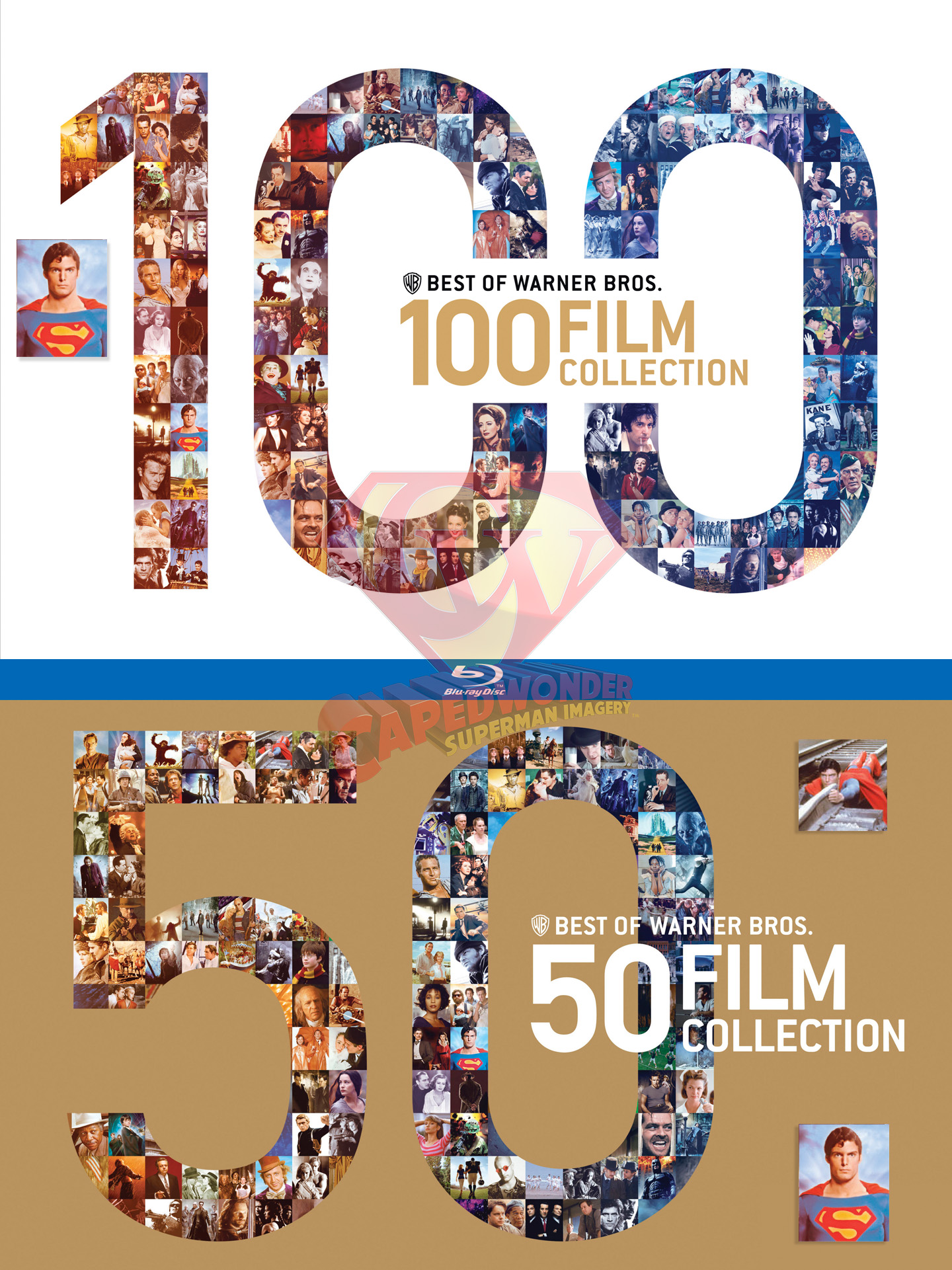 Warner Bros. 90th Anniversary DVD and Blu-ray collection slipcase covers.