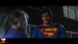 Superman rescues Frisky the cat for the little girl in Superman-The Movie.