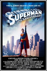 Superman-The Movie 35th anniversary poster created by Jim Bowers.