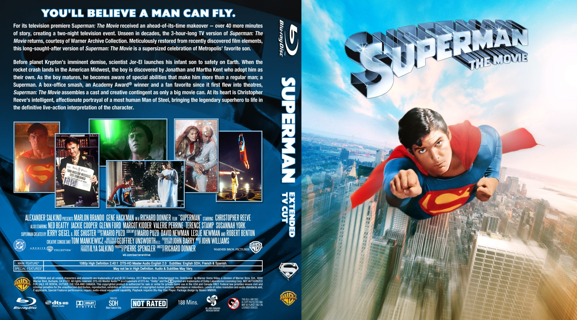 Superman 1 JA Extended TV Edition 1-disc Custom BD by Nissen