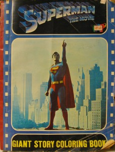 Superman The Movie Giant Coloring Book 1979