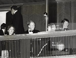 President Carter and family at the Superman-The Movie Presidential Premiere December 10, 1978.
