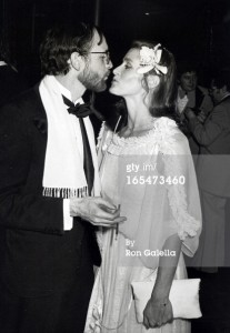 Margot Kidder and writer Michael O'Donaghue at the Superman-The Movie Presidential Premiere December 10, 1978.