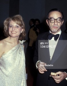Barbara Walters and economist Alan Greenspan at the Superman-The Movie Presidential Premiere December 10, 1978.