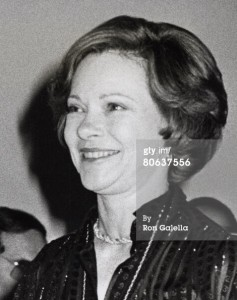 First Lady Rosalynn Carter at the Superman-The Movie Presidential Premiere December 10, 1978.