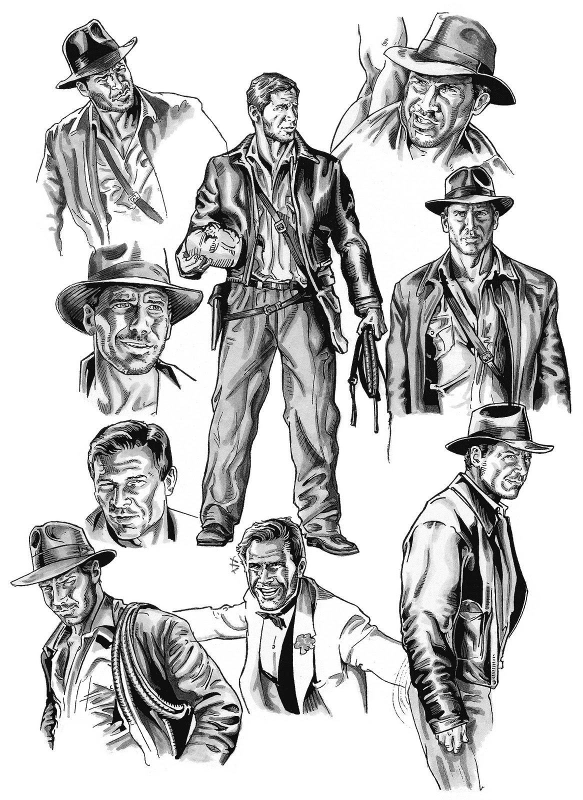 Free coloring pages of indiana jones for Indiana jones coloring pages
