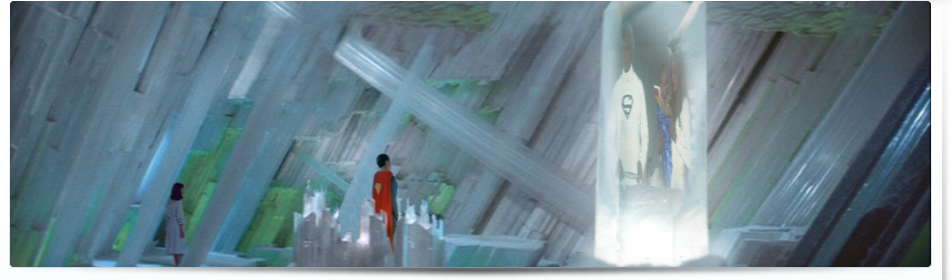 Selutron's vision of Superman speaking with his Kryptonian parents in Superman II