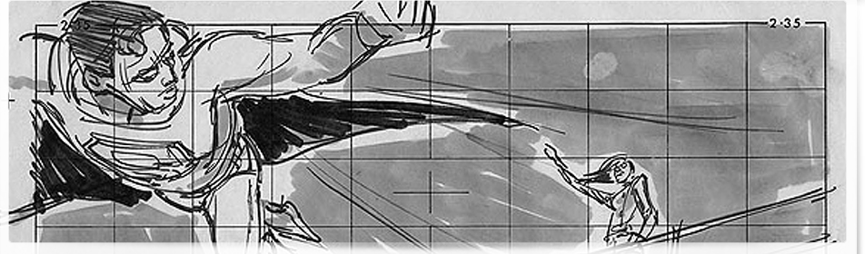 Superman Donner Years Storyboards