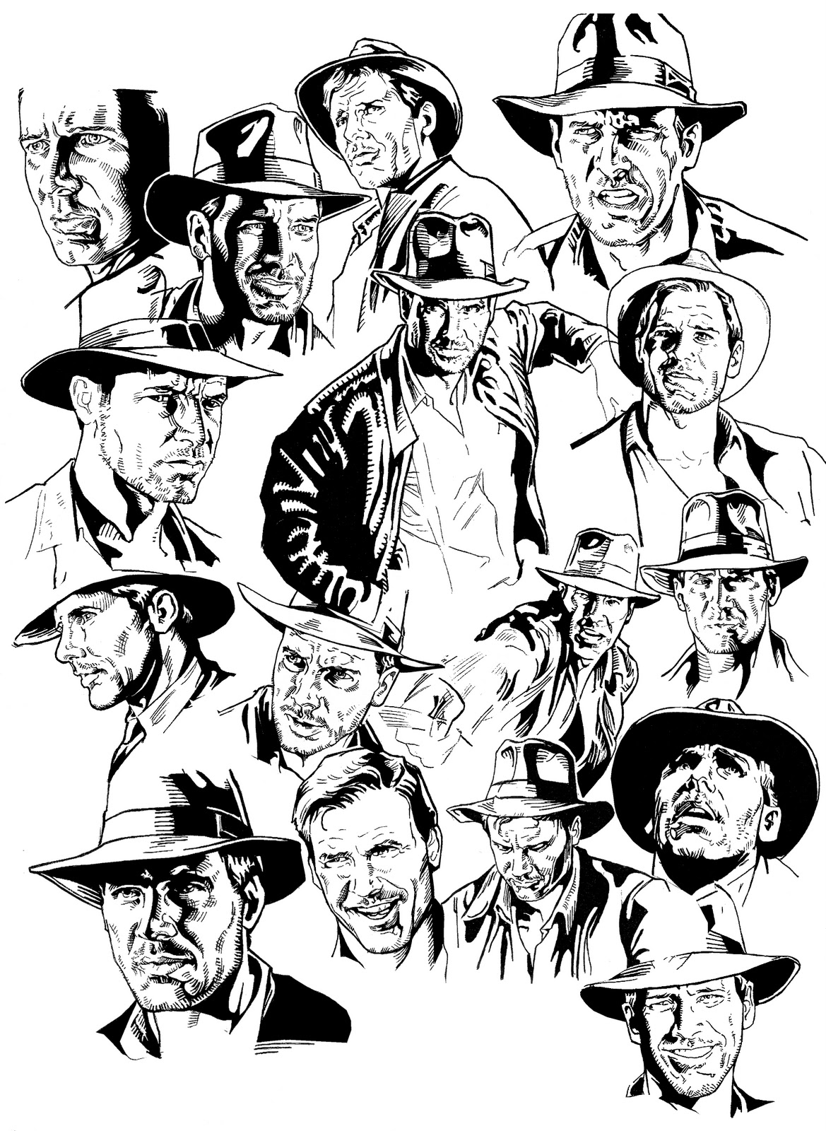 indiana jones 4 coloring pages - photo#36