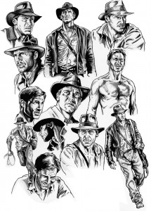 Indiana Jones by Nacho Castro.