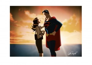 Valentine's Day Lois and Superman.