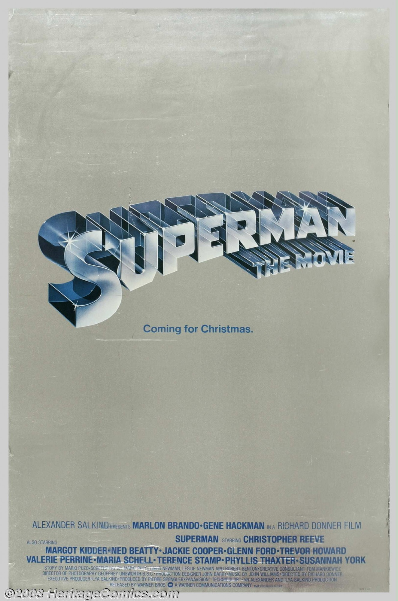 Superman-The Movie silver mylar one-sheet poster #1.