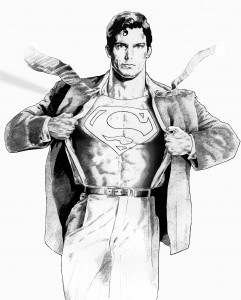 Superman by Nacho Castro.