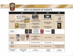 Warner Bros. 90th anniversary calendar.