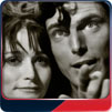 Christopher Reeve and Margot Kidder fly over Metropolis in Superman-The Movie.