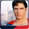 Christopher Reeve poses as Superman in Metropolis.