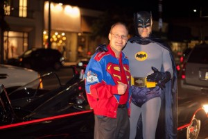 Jim Bowers with Batman. Photo by Amy Kaplan Photography.