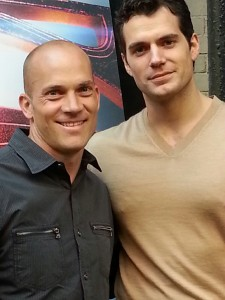 Aaron Smolinski and Henry Cavill.