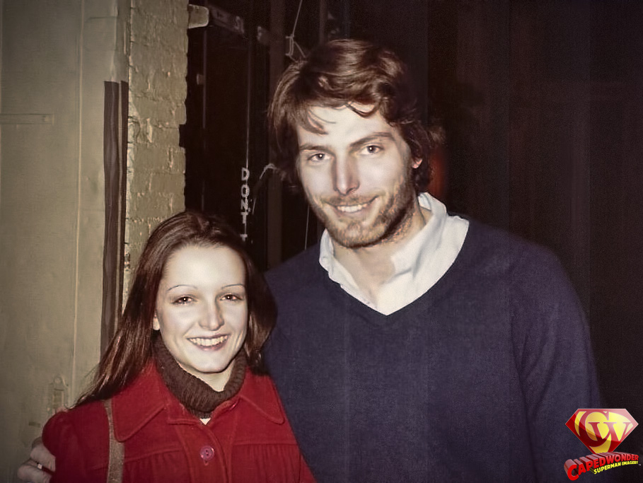 Cathy Frahme with Christopher Reeve in New York City, 1980.