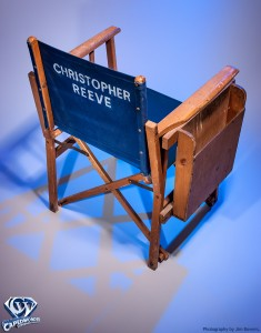 Christopher Reeve's Superman Director's Chair during the England-shot Richard Donner Years. Photograhy by Jim Bowers.