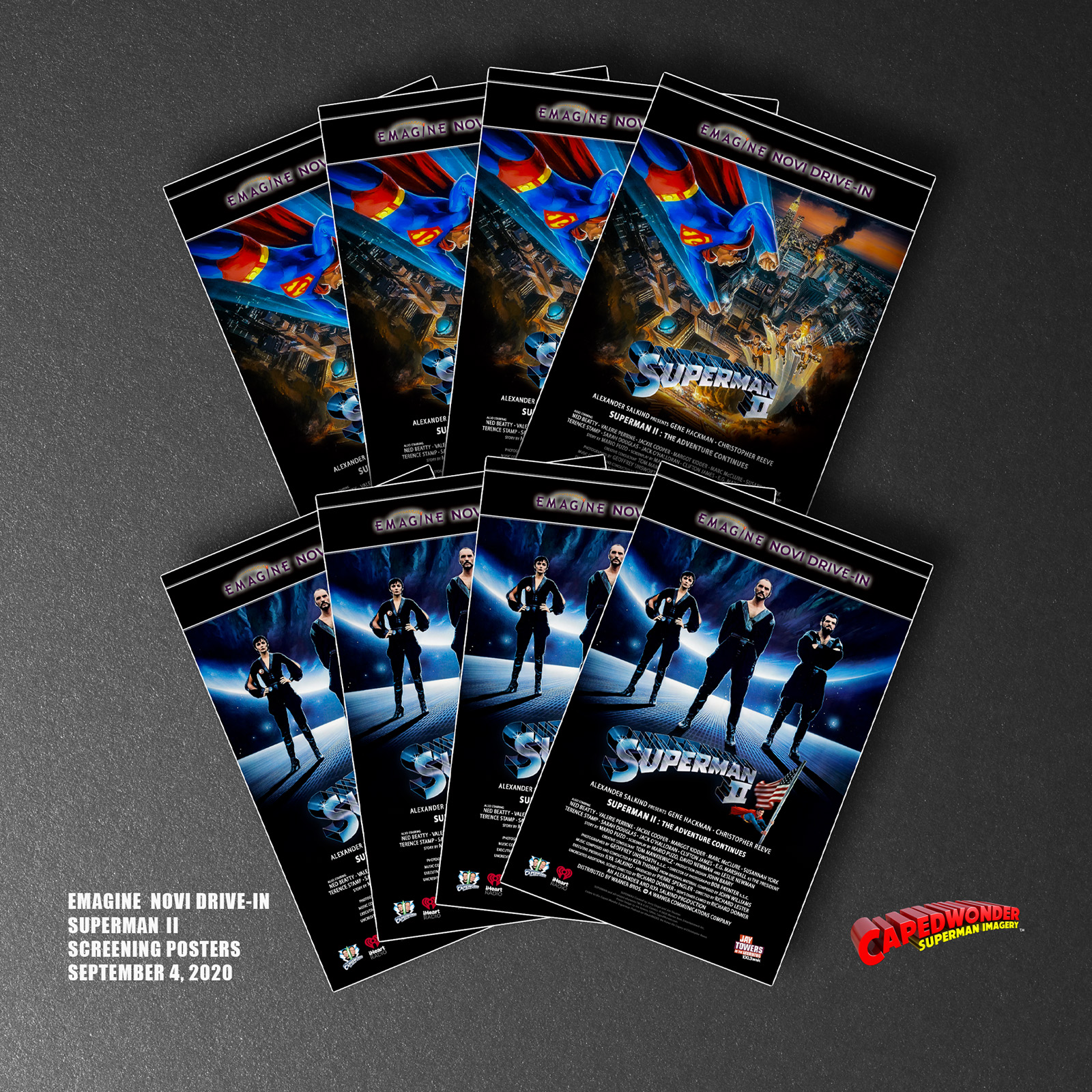 Superman II Drive-In Giveaway Posters