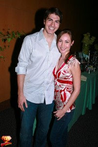 Brandon Routh and Courtney Ford.