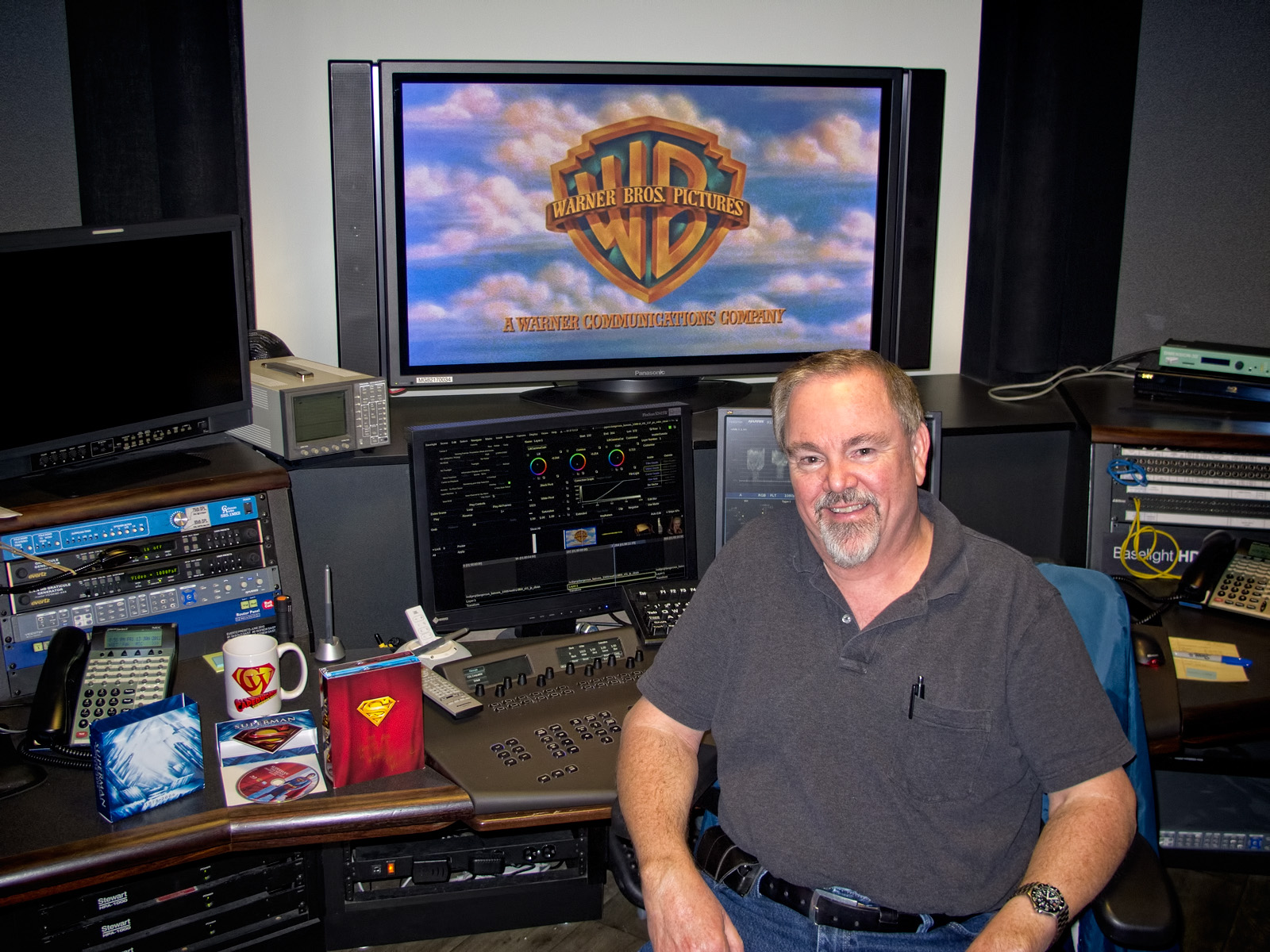 Senior Mastering Colorist Pat Miller at his suite at Warner Bros. Motion Picture Imaging on January 13, 2012. Photo by Jim Bowers.