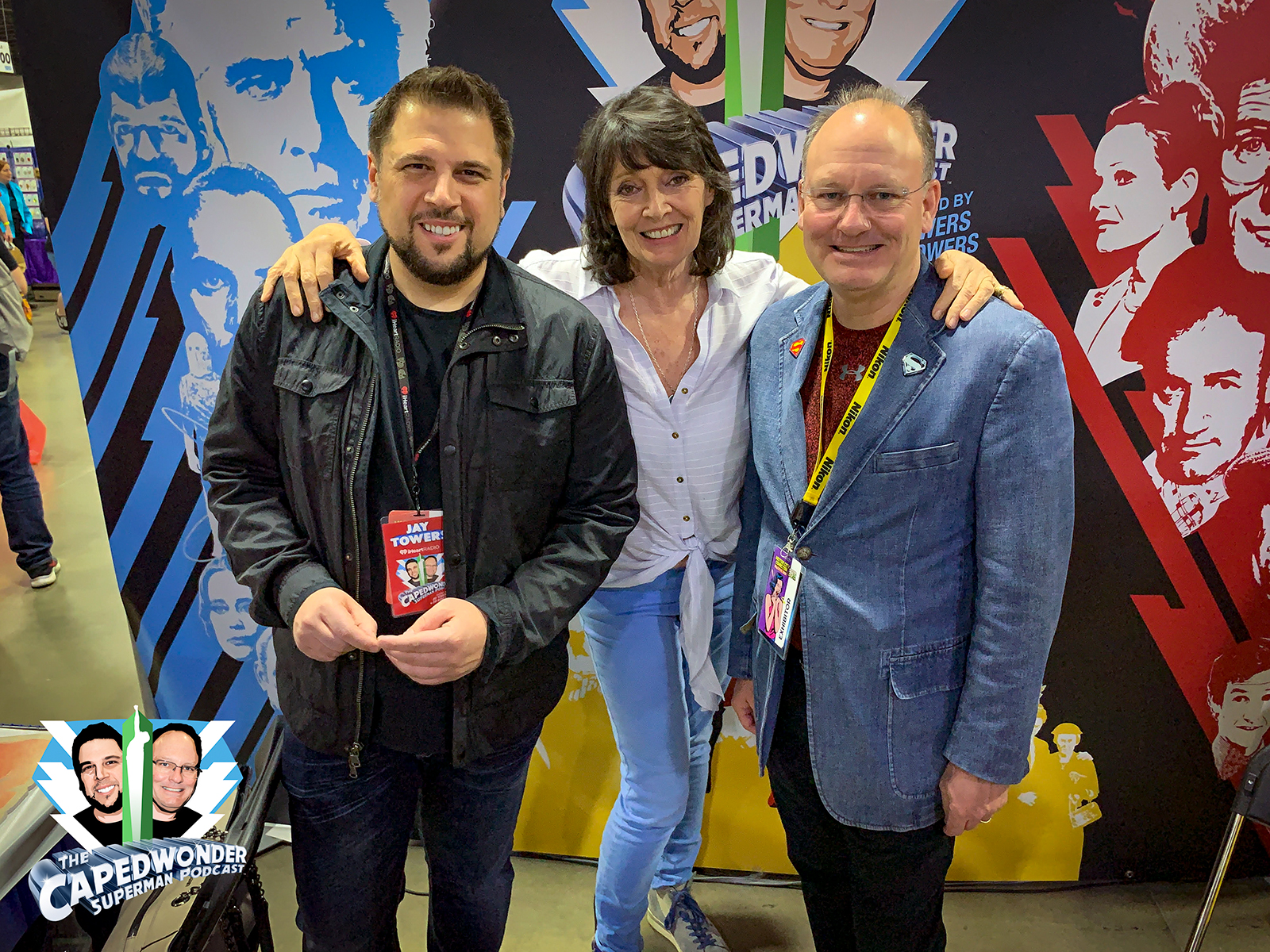 Jay Towers, Sarah Douglas and Jim Bowers at the 2019 Motor City Comic Con