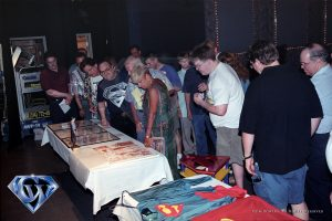 Superman auction in 1999 with guest Alex Ross.