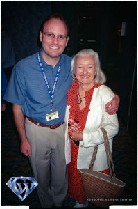 Jim Bowers with Noel Neill in 2001.